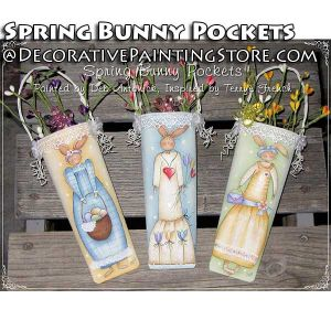 Spring Bunny Pockets e-Pattern -Deb Antonick - PDF DOWNLOAD