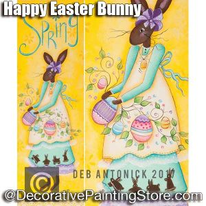 Happy Spring or Easter Bunny e-Pattern -Deb Antonick - PDF DOWNLOAD