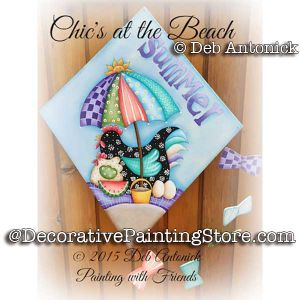 Chicks at the Beach e-Pattern -Deb Antonick - PDF DOWNLOAD