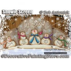 Snowie Screen e-Pattern -Deb Antonick - PDF DOWNLOAD