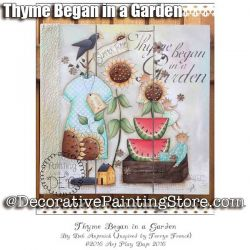 Thyme Began in a Garden e-Pattern -Deb Antonick - PDF DOWNLOAD