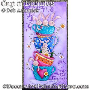 Cup o Bunnies DOWNLOAD - Deb Antonick