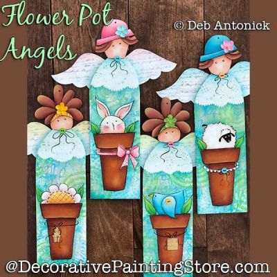 Flower Pot Angels DOWNLOAD - Deb Antonick