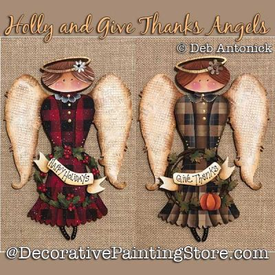 Holly and Give Thanks Angels DOWNLOAD - Deb Antonick