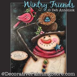 Wintry Friends (Snowman - Cardinal) DOWNLOAD - Deb Antonick