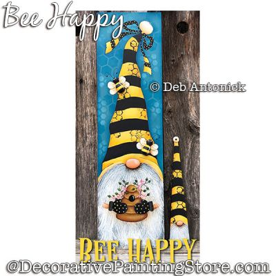 Bee Happy Gnome DOWNLOAD - Deb Antonick