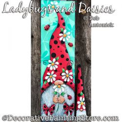 Ladybug and Daisies Gnome DOWNLOAD - Deb Antonick