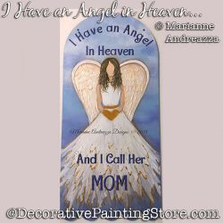 I Have An Angel in Heaven Painting Pattern PDF DOWNLOAD - Marianne Andreazza