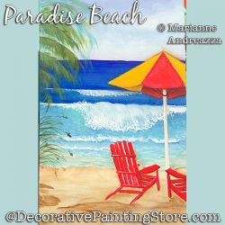 Paradise Beach Painting Pattern PDF DOWNLOAD - Marianne Andreazza