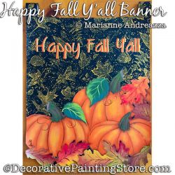 Happy Fall Yall Banner Painting Pattern PDF DOWNLOAD - Marianne Andreazza