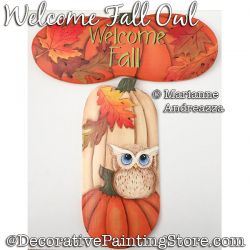 Welcome Fall Owl Painting Pattern PDF DOWNLOAD - Marianne Andreazza
