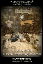 Joy to the World Nativity Pattern - Silvia Andreoli - PDF DOWNLOAD