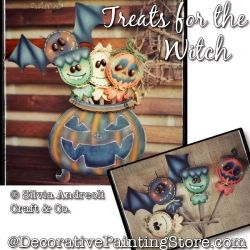Treats for the Witch Painting Pattern PDF DOWNLOAD - Silvia Andreoli