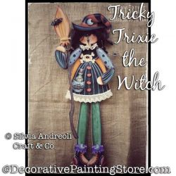 Tricky Trixie the Witch Painting Pattern PDF DOWNLOAD - Silvia Andreoli