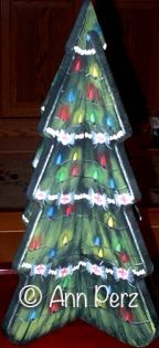 Modern Christmas Tree  By Ann Perz - PDF DOWNLOAD