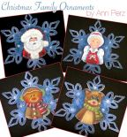 Christmas Family Ornaments Pattern by Ann Perz - PDF DOWNLOAD