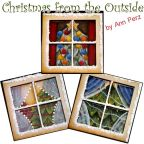 Christmas From the Outside Ornaments Pattern by Ann Perz - PDF DOWNLOAD