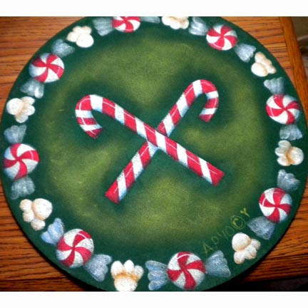 Christmas Candy Mouse Pad By Ann Perz - PDF DOWNLOAD