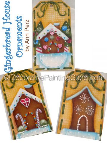 Gingerbread House Ornaments Pattern by Ann Perz - PDF DOWNLOAD