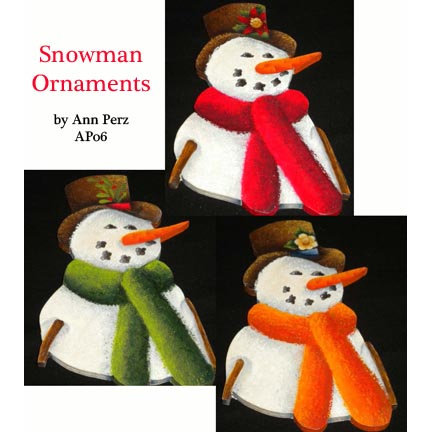 Snowmen Ornaments By Ann Perz - PDF DOWNLOAD