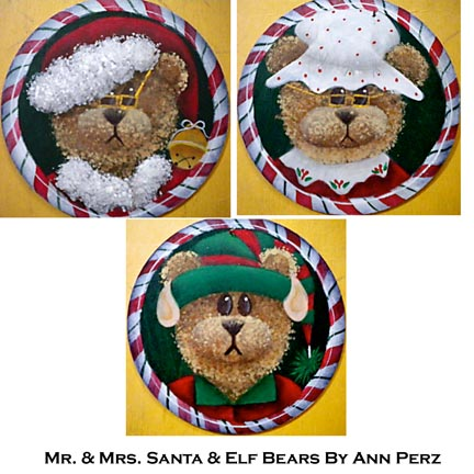 Mr. & Mrs. Santa Bear & Elf Bear By Ann Perz - PDF DOWNLOAD