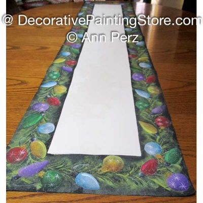Ornaments and Lights Table Runner Pattern by Ann Perz - PDF DOWNLOAD