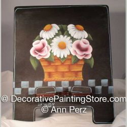 Basket of Flowers ePattern - Ann Perz - PDF DOWNLOAD