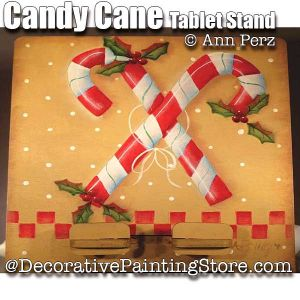 Candy Cane Tablet Stand ePattern - Ann Perz - PDF DOWNLOAD