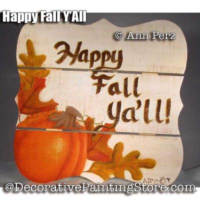 Happy Fall Y-All ePattern - Ann Perz - PDF DOWNLOAD