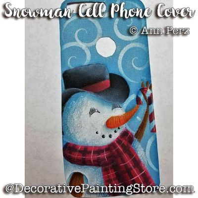 Snowman Cell Phone Cover ePattern - Ann Perz - PDF DOWNLOAD