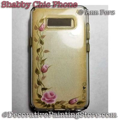 Shabby Chic Rose Cell Phone Cover PDF DOWNLOAD - Ann Perz