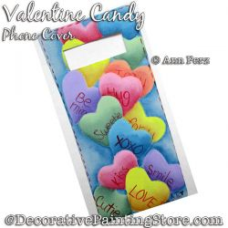 Valentine Candy Cell Phone Cover Painting Pattern  PDF DOWNLOAD - Ann Perz