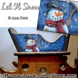 Let It Snow Sleigh (Snowman) Painting Pattern  PDF DOWNLOAD - Ann Perz