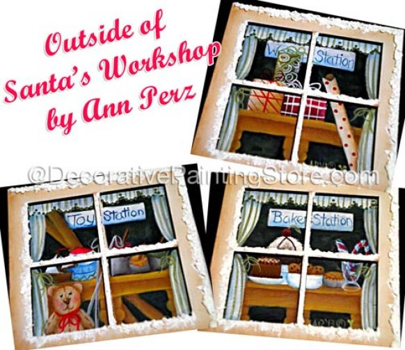 Outside of Santas Workshop Ornaments Pattern BY DOWNLOAD