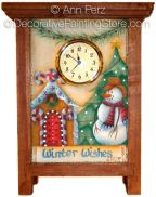 Winter Wishes Clock ePattern by Ann Perz - PDF File