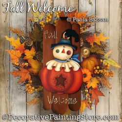 Fall Welcome Painting Pattern PDF Download - Paola Bassan