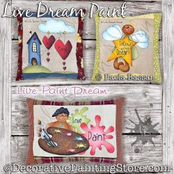 Live Dream Paint (Gingerbread Pillows) Painting Pattern PDF Download - Paola Bassan