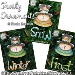 Frosty Ornaments (Snowman) Painting Pattern PDF Download - Paola Bassan
