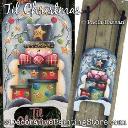 Til Christmas (Santa Sled) Painting Pattern PDF Download - Paola Bassan