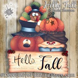 Hello Fall Painting Pattern PDF Download - Paola Bassan