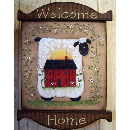 Welcome Home Sheep Plaque DOWNLOAD