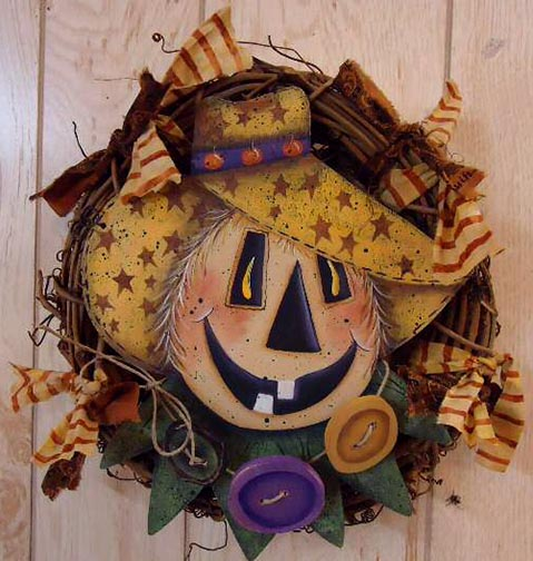 Happy Scarecrow Wreath e-Pattern DOWNLOAD