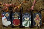 Four Wintery Sleds Ornaments DOWNLOAD