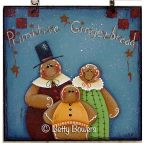 Primitive Gingerbread Family Sign DOWNLOAD
