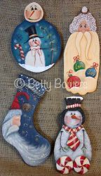 Love, Joy, Hope Winter Ornaments e-Pattern