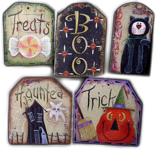 Halloween Tag Ornaments e-Pattern DOWNLOAD