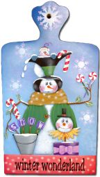 Snowman Bread Board e-Pattern DOWNLOAD