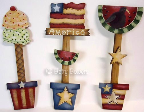 4th of July Ornaments e-Pattern DOWNLOAD