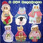 Six Owl Ornaments Pattern BY DOWNLOAD