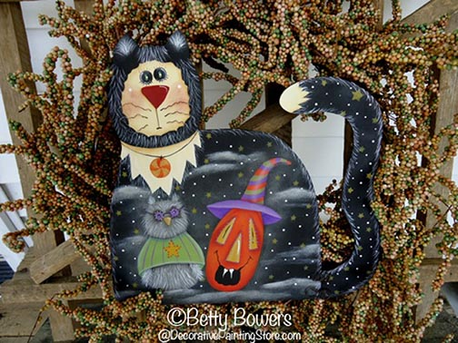 Kat, Owl, and Pumpkin Pattern - Betty Bowers - PDF DOWNLOAD